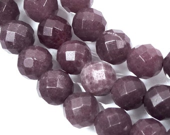 "6mm Natural Purple Aventurine Faceted Round Beads 15.5"" (e7366)"