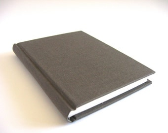 Gray Brown Pocket Sized Blank Journal