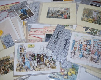 SALE: Save 50% Vintage Decoupage, Framing, Creating Prints Collection.....75 Pieces +