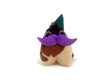 Dragon Monster Plush with Moustache - Interactive DragonMonster (Small)| Made in USA