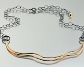 Mixed Metal Tidal Necklace