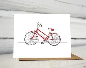 Illustrated vintage Schwinn bicycle greeting card