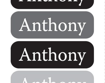 SKATER BOY  - TINY waterproof pacifier, bottle, sippy cup labels - set of 64 vinyl name stickers