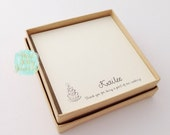 Personalized Bridal Jewelry Card and Kraft Box, Great for Gift Giving, Bridesmaids, Bridal Party, Flower Girl, Maid of Honor