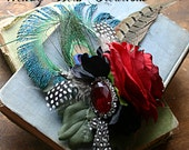 Passionate Improv - ATS Tribal Belly Dance Hair Art Fascinator Clip