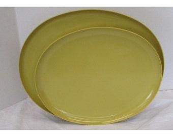 2 Florence by Prolon Melmac Melmine Oval Serving Platters  Ochre 7807 7832