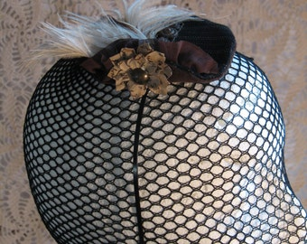 Mini Fascinator with Feathers
