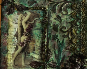 Lilly In The Garden Mixed Media Assemblage