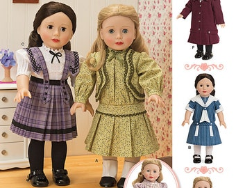 DOLL CLOTHES PATTERN For American Girl Dolls / Make Vintage 1900 Styles / Samantha - Rebecca