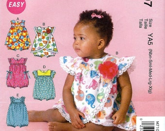 BABY ROMPER PATTERN / Make Girls Romper / Sizes Newborn to Extra Large / Summer Clothes