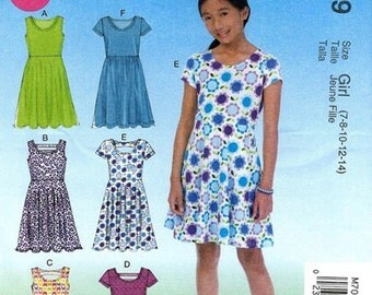 GIRLS CLOTHES PATTERN! Make Dress - Sundress / Summer Clothes / Sizes 7 to 14 or 10 1/2 to 16 1/2