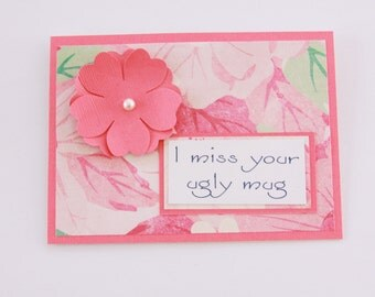 Floral I Miss You Card