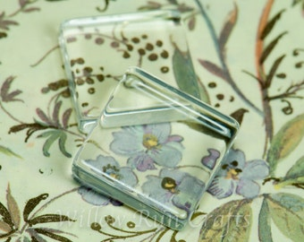 100 Pack 16mm Square Earring Size Glass Tiles  (09-03-470)