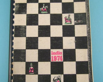 Vintage 1974 India Calendar Book for Collage, Paper Arts, Crafts, Scrapbooking