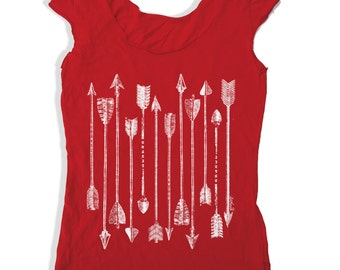 Womens ARROWS Collection Scoop Neck Tee - american apparel T Shirt S M L XL (6 Colors)