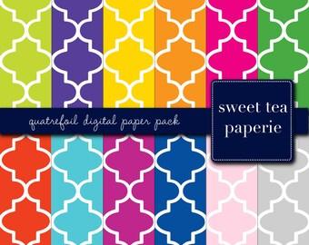 Quatrefoil Digital Paper Pack (Instant Download)