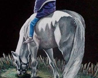 """Commissioned Pet Portrait - 11"""" x 14"""" - Colored Pencil"""