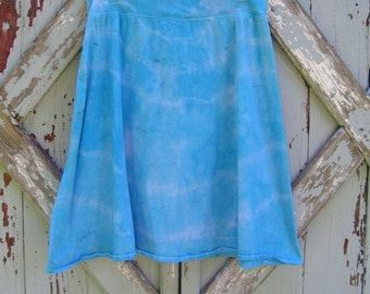 Blues  tie dye cotton knit skirt - XL