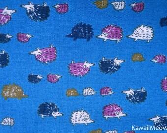 SALE - Cute Hedgehog's Family on Navy Blue - Half Yard (i150714)