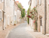 France Photography, Quiet Morning in the South of France, Martel, Summer, Roses, Nature, Brown neutral tones, French Wall Art
