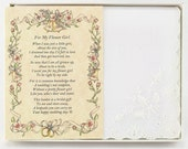 Personalized From the Bride to her Flower Girl Wedding Handkerchief - BH119