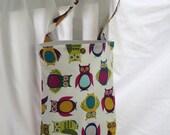 Chevron Owls Reusable Car Litter Bag- Washable , Eco Friendly and Stylish