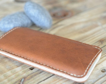 Galaxy S8, Galaxy S8+ Leather Sleeve  - BOTH SIDES, Organic Leather