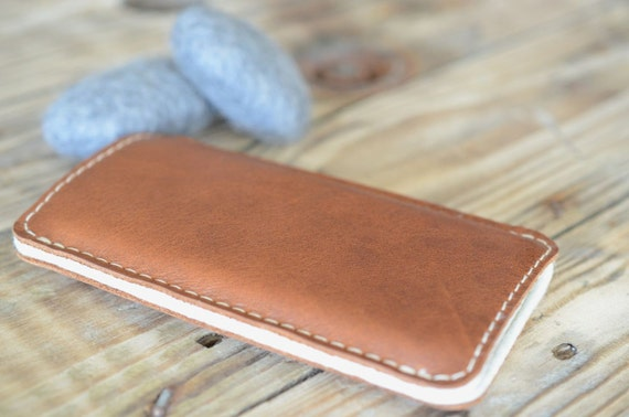 iPhone 3 | 4 | 5 Leather Sleeve - BOTH SIDES