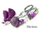 Lilac Purple Scissor Fob Beaded Scissor Keeper Scissor Minder Elite Series Needlepoint Quilting Sewing Cross Stitch Crafts