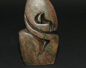 African Shona Sculpture Abstract Sleeper Zimbabwe