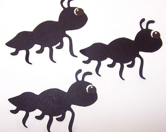Ant, Picnic, Summertime, Bug, Pest, Black, Paper Embellishment, Favor Tags, Classroom Decor, Party Decor, Card Making, Scrapbooking, Tags
