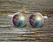 Nebula Orion Silver Cufflinks -Wedding-Cufflink Box-Jewelry Box-Silver-Keepsake-Gift-Man gift-Fathers-Men-Astronomy-Science-Space