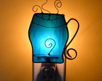 Cup of Jo  Stained Glass Night Light