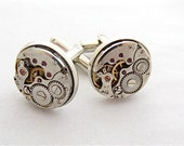 Wedding cufflinks - Watch movements - Steampunk - Cuff Links -Repurposed - Top Sellers - Up cycled