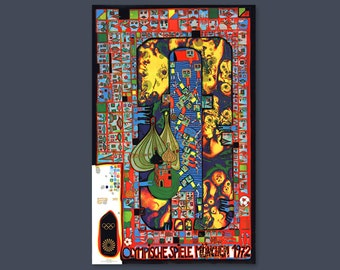 Hundertwasser, Art Poster, Olympic Games 1972 Munich