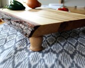 Footed Natural Edge Serving Board - Large Cheese Board