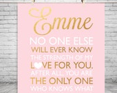 Faux Gold Nursery New Baby announcement baby shower gift Gold baby shower Gold Print Girl quote Gold Nursery print Gold nursery decor