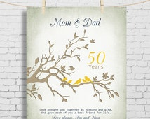 50th wedding anniversary gift anniversary gift for parents parents
