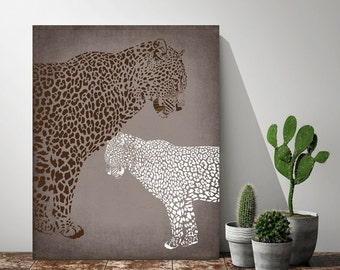 Leopard baby shower decorations etsy for Animal print baby shower decoration ideas