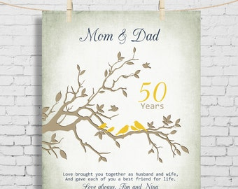40th Wedding Anniversary Gifts For Mum And Dad : 50th wedding anniversary gift anniversary gift for parents parents ...