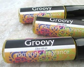 Groovy Rollon Scent, concentrated, Patchouli and Nag Champa blend, hippie fragrance, classic retro scent, vegan formula