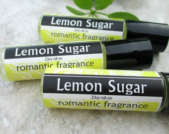 Lemon Sugar Perfume Oil, Vibrant Citrus fragrance with a hint of sweet, Roll On Scent