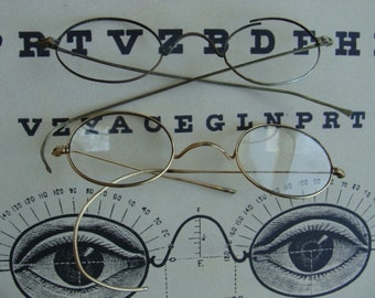 LQQK Antique Spectacles Over 100 years old Lot N010