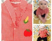 Vintage 60s unisex baby gingham shirt