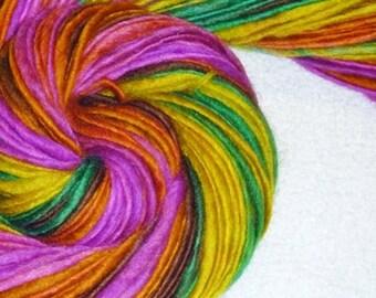 Neon Rain Forest II Handspun Art Yarn - 74 yards - Knit - Crochet - Weave - Macrame - Mixed Media - Superwash