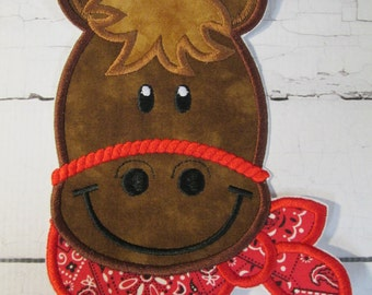 Western Boy or Girl Pony - Iron On or Sew On Embroidered Applique