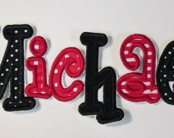 Embroidered Letters - Individual letters for Spelling Names or Initials or Monograms - Iron On or Sew On Embroidered Custom Made Applique