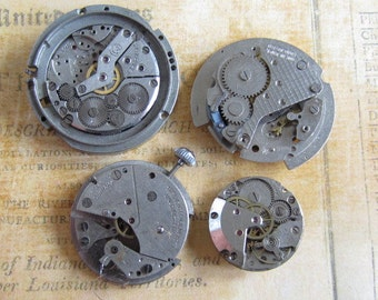 Vintage pocket Watch movement parts - Pocket watch plates Steampunk - Scrapbooking h2