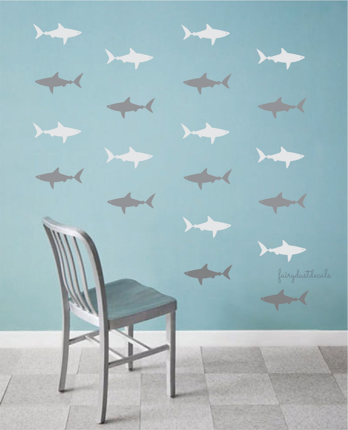 Captivating Details. Shark Wall Decals Part 12