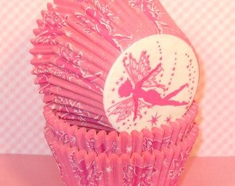 Pink Fairy Cucpake Liners  (32)